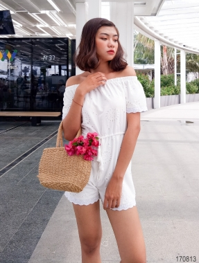 Eyelet Jumpsuit Ovanmade Am874