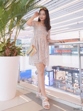 Floral Mini Dress Ovanmade AM910